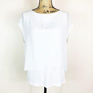 Tahari | Women's White Sleeveless Top Size Medium